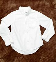 Childrens Place Boys Shirt Sz 5/6 White Classic Button Up Long Sleeve  with Tie