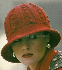 VINTAGE KNITTING PATTERN FOR A CLOCHE HAT - RETRO - knitting pattern only