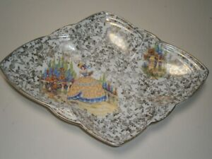 """VINTAGE COLLECTABLE """" CRINOLINE LADY """" EMPIRE, ENGLAND CHINTZ SERVING PLATE"""