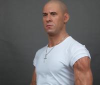 Life Size Vin Diesel Movie Star Wax Statue Realistic Prop Display Figure 1:1