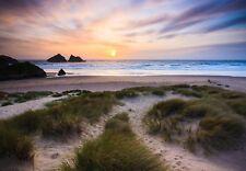 "20""x30"" Holywell Cornwall Cornish Coastal Scene Canvas Pictures Wall Prints"