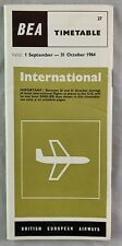 Airline Timetable Oct 31 1964 BEA British European Airways International