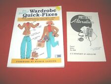 Wardrobe Quick Fixes Book & Pattern Alterations Bulletin~Gd/Vgc~Lot#Sb-31