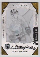 Chris Stewart 2008-09 The Cup Masterpieces RC #Mas-179 Black Printing Plate NRMT