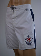 Ralph Lauren White Surf Board Swim Suit Trunks/PRL Rowing Club Pony NWT Size 32