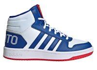 Scarpe da bambino Adidas HOOPS FW3167 sneakers alte casual sportive ginnastica