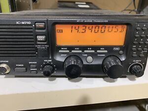 Icom IC-M710 Ham & Marine HF SSB Transceiver, Good Receive, No Transmit