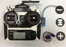 NIB Sanwa Aquila6 4WD 2.4Ghz 6 CH Transmitter / RX71E  Receivers For Cars