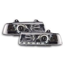 2 FEUX PHARE AVANT LED DEVIL EYES BMW SERIE 3 E36 CHROME BERLINE