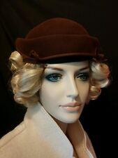 Vintage hat brown Gunther Jaeckel NY 1940s
