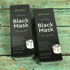2 Gemmaz Black Mask Activated Charcoal Deep Cleansing Facial Pore Cleaner 60g