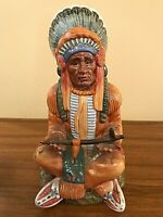 VINTAGE ROYAL DOULTON OF ENGLAND FIGURINE (1978) - INDIAN CHIEF