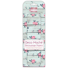 3 SHEETS OF DECOUPAGE / DECO MACHE PAPER FIRST EDITION WOOD WASH