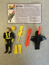 GI Joe Vintage Battle Corps Wet Suit Figure W/ Accessories & File Card 1992