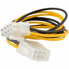 """New 8"""" 8-pin 12V Power Extension Cable Male to Female EPS P4 ATX Motherboard CPU"""