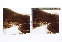 Corsica Contadini E Agenti Foto Stereo T2L2n Placca Da Lente Vintage