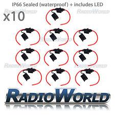 10x Waterproof Car 30A 12V 24V Inline ATC Standard Blade Fuse Holder 12AWG + LED