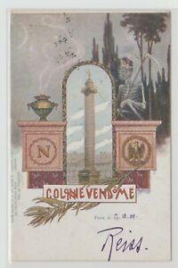 Litho Colonne Vendome Siegessäule 1900