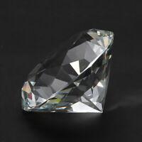 Clear Big 60mm K9 Crystal Diamond Glass Art Paperweight Decor Ornament Tableware
