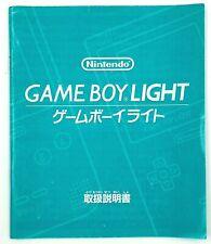 Notice Console Nintendo Game Boy Light GB NTSC-J Exclu Japon