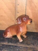 Vintage Dachshund Dog Porcelain Figurine,Made in Japan.