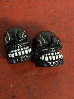 Harley Evo Big Twin Panhead Shovelhead Ironhead Chopper Evo Skull Head Stem Caps