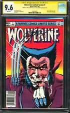 WOLVERINE LIMITED SERIES #1 1982 NEWSSTAND CGC SS 9.6 NM+ SIGNED 2X FRANK MILLER