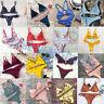 UK Women Velvet Bikini Set Padded Bandage Swimsuit Beach Bathing Swimwear Lot