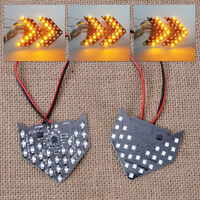 2Pcs 27 SMD LED Rear View Side Mirror Sequential Arrow Panel Turn Signal Light