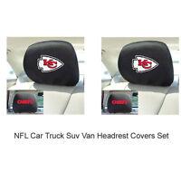 New 2pc NFL Kansas City Chiefs Gear Car Truck Suv Van Headrest Covers Set