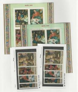 Burundi, Postage Stamp, #222-225a Mint NH Perf & Imperf, 1967 Christmas (P)
