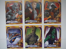 2015 COMIC CON EXCLUSIVE MARVEL GUARDIANS OF THE GALAXY DISNEY 6 CARD SET