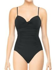 LOVE YOUR ASSETS BY SPANX BLACK ONE PIECE PUSH UP SWIMSUIT SMALL S BATHINGSUIT