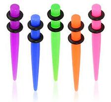 UV Acrylic Neon Taper Ear Stretcher Expender Body Piercing Tragus