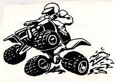 "ATV,TRUCK, CORNHOLE TRAILER ""4 WHEELING"" VINYL DECAL"