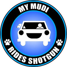 My Mudi Rides Shotgun Sticker Decal