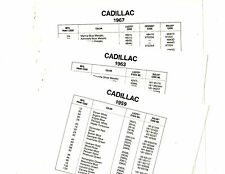 1959 1960 1961 1962 1963 1964 1965 1966 1967 TO 1969 CADILLAC PAINT COLOR LISTS