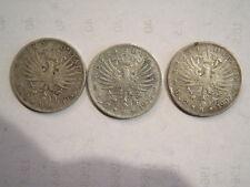 serie 2 lire 1905,6,7 in argento aquila sabauda