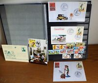 Superbe ensemble de timbre sur Gaston et série d'enveloppe émise premier jour