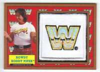2017 Topps Heritage WWE Commemorative Patch Bronze /99 Rowdy Roddy Piper