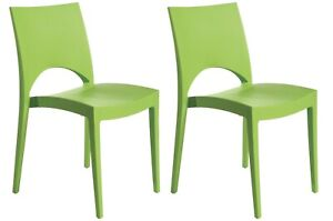 Upon Paris Indoor Outdoor Patio Dining Chairs Stackable, Strong (2 Chairs)