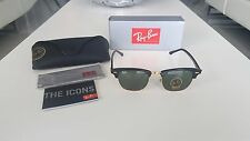 Ray-Ban RB3016 Clubmaster Classic Black/Gold Frame Green G-15 Lenses 51mm
