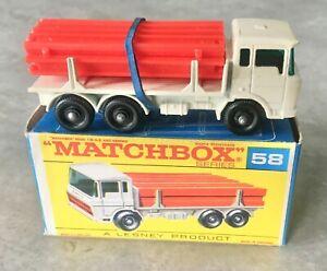 Matchbox Regular Wheels - DAF Girder Truck 58C in original F type box