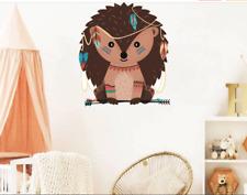Tribal Animal Hedgehog Wall Sticker Woodland Animal Sticker Kids Room Decoration