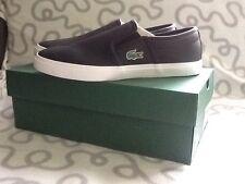 Lacoste Gazon Slip-on Sneakers Men's Black Size 8 NWB