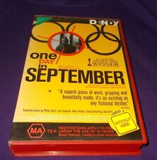 ONE DAY IN SEPTEMBER VHS PAL MUNICH OLYMPICS 1972 DOCUMENTARY