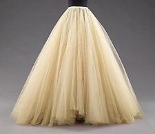 2016 Women Party Tutu Peticoats Tulle Petticoats Skirts Floor Length Mulitilayer