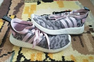 Adidas Women NMD R2 PK Wonder Pink Camo Glitch Primeknit Boost Size 10