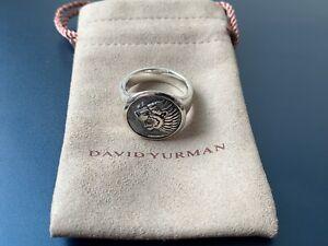 David Yurman Petrvs Lion Signet Pinky Ring in Sterling Silver Size 10