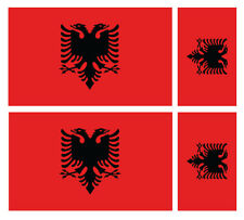 4 X ALBANIAN ALBANIA FLAG VINYL CAR VAN IPAD LAPTOP STICKER